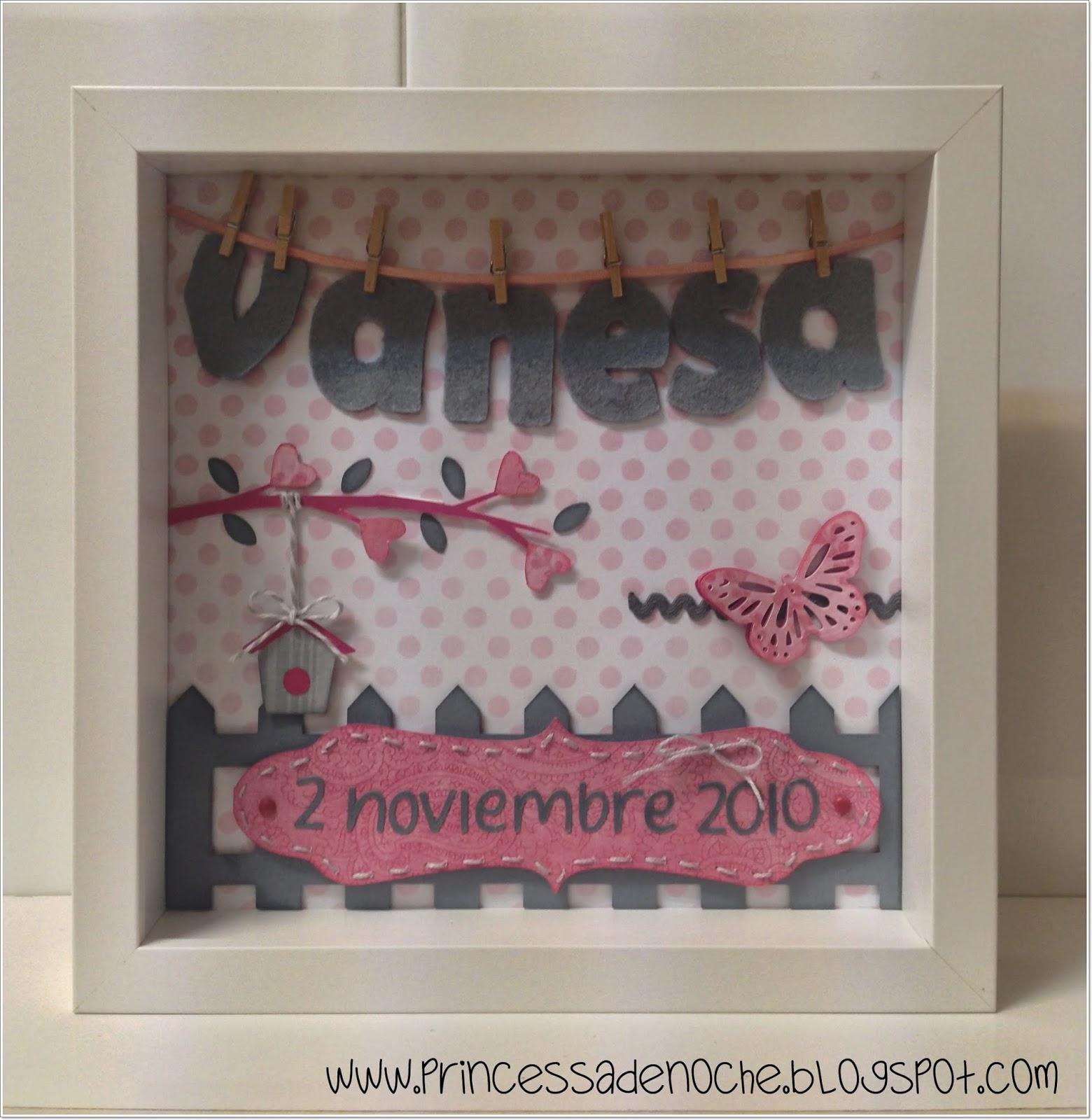 Princessadenoche conjunto de cuadro y nombre en fieltro - Cosas para decorar la habitacion ...