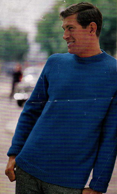 The Vintage Pattern Files - Free 1960's Knitting Pattern - Mens Sweater