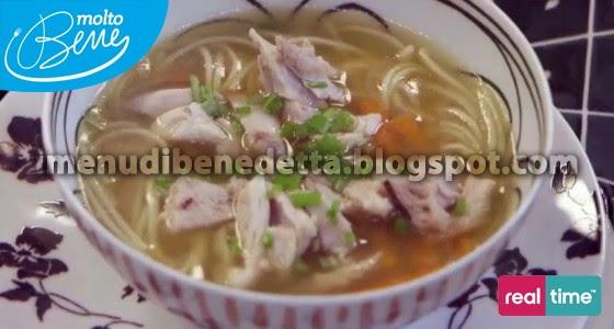Zuppa di Noodles e Pollo di Benedetta Parodi