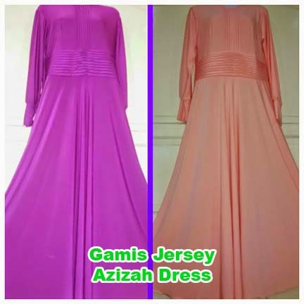 Gamis Jersey Azizah Dress | azzahidahcollections.com