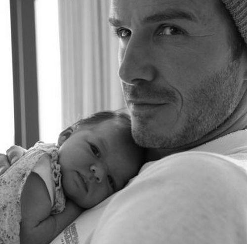 David Beckham: sweet birthday greeting to Harper seven!
