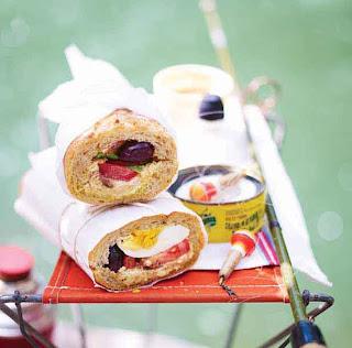 Niçoise stuffed baguette