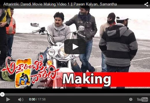 Attarintiki Daredi Movie Making Scenes