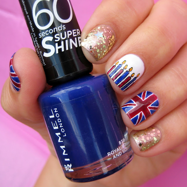 Queen's birthday nail art