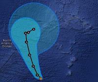Tropischer Sturm NADINE Azoren - zweiter Besuch wird wahrscheinlicher, Nadine, Azoren, aktuell, Vorhersage Forecast Prognose, Atlantische Hurrikansaison, Hurrikansaison 2012, September, Oktober, 2012, Verlauf, Zugbahn,