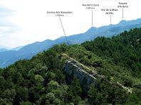 Els Rocs del Catllaràs des del Cap de la Coma Verda