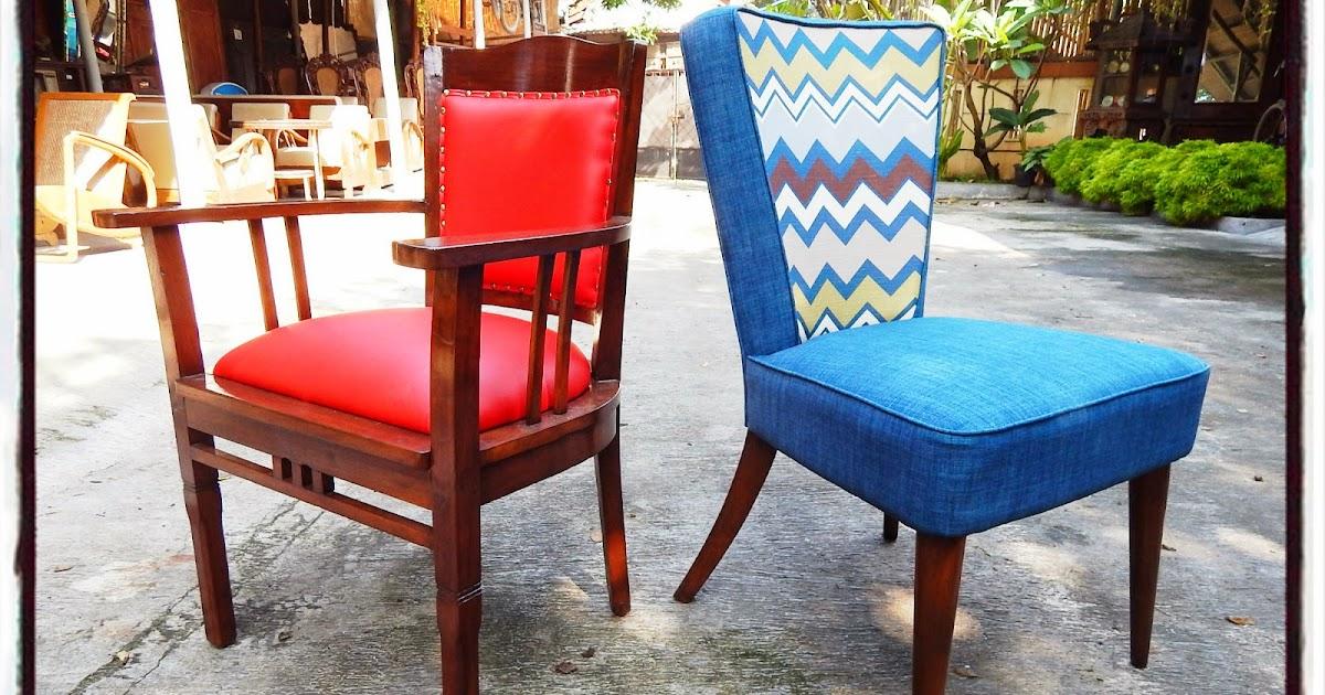 TOKO BARANG ANTIK: Dijual: Kursi Vintage Merah & Kursi ...
