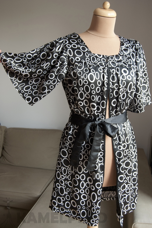 przeróbka sukienki, szlafrok