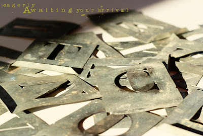 projet 52 photos pochoirs lettres métalliques