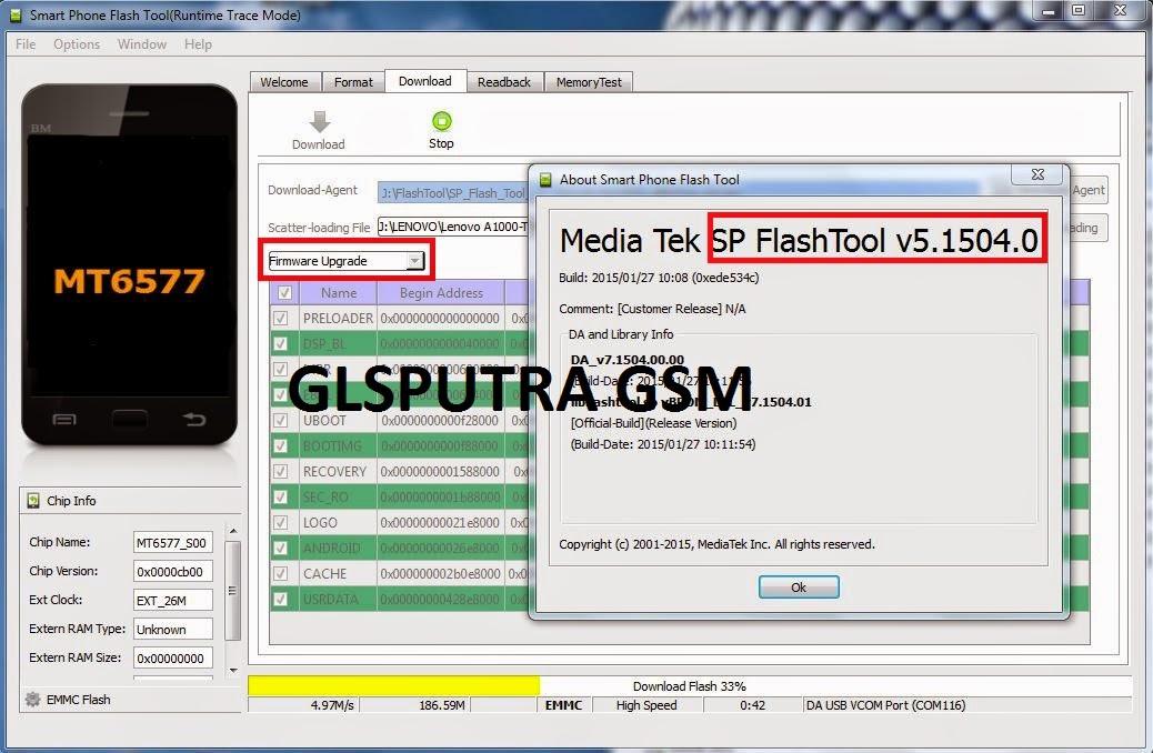 GLSPUTRA GSM MOBILE LENOVO A1000 T FIRMWARE CN