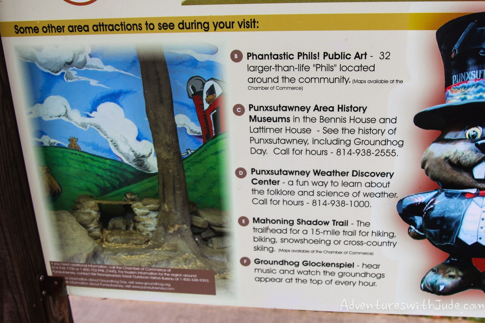 Punxsutawney PA area attractions