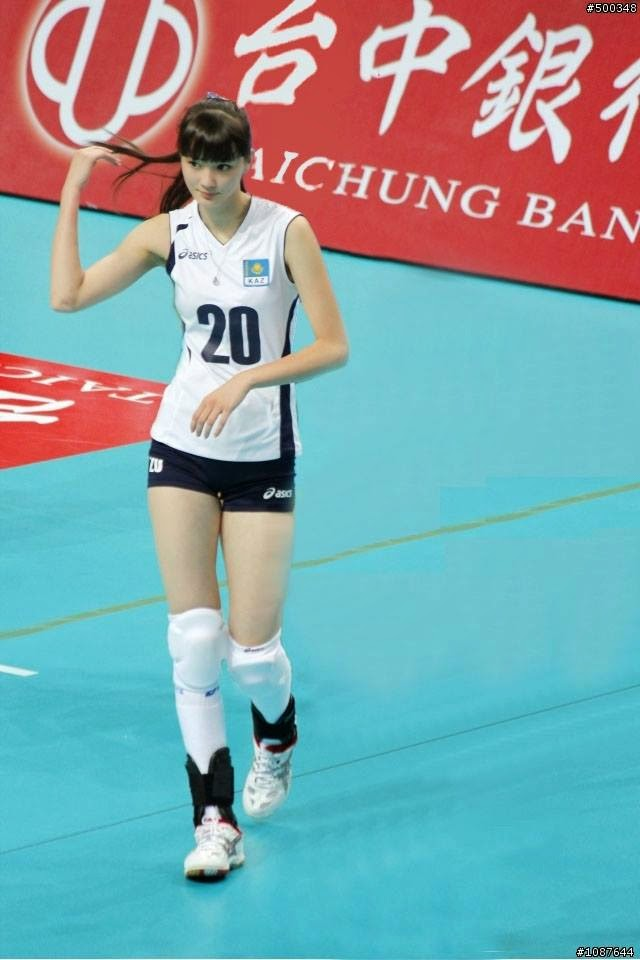 Foto Pemain Voli Cantik Asal Kazakhstan, Sabina Altynbekova
