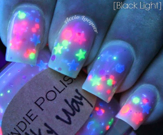 Just J: Milky way neon star polish from IndiePolish