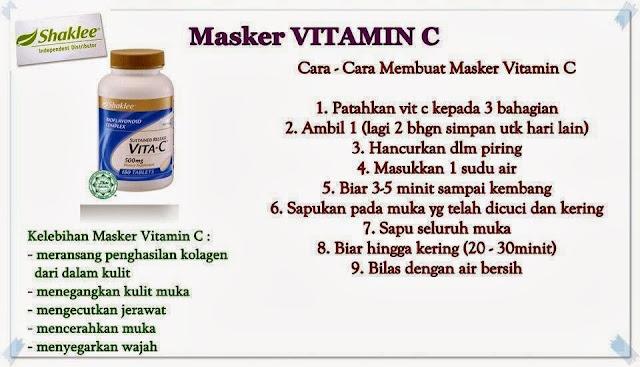 masker vitamin c shaklee
