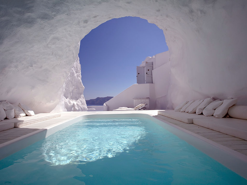 Greece Cave Pool
