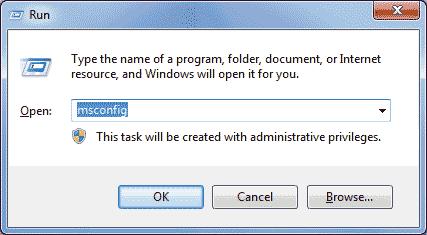 membuka jendela system configuration