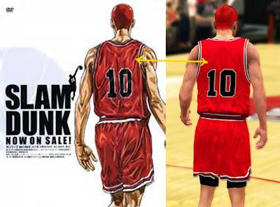 Slam Dunk 2K13 Team Shohoku Jersey Mod
