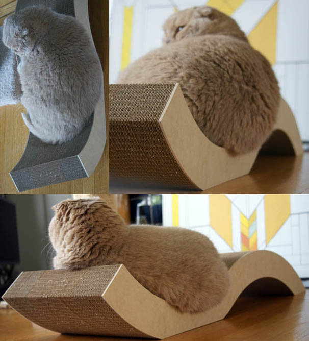 Modern Furniture Pet Chair and Scratcher for Funny Kitty