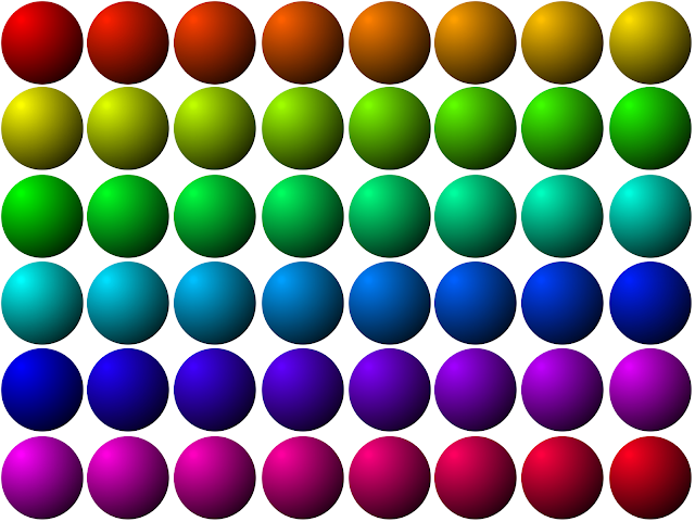 RGB Color Chart 3D Dots Sphere Globe Ball Free Use ClipArt Clip Art PNG