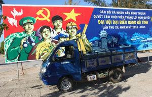 A propaganda in Phan Thiết city
