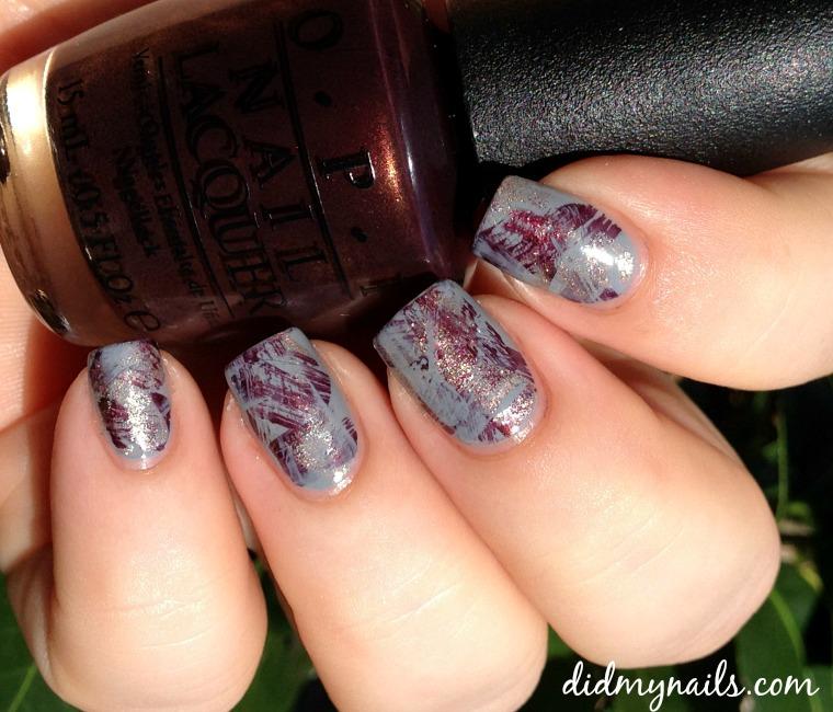 brushstroke manicure