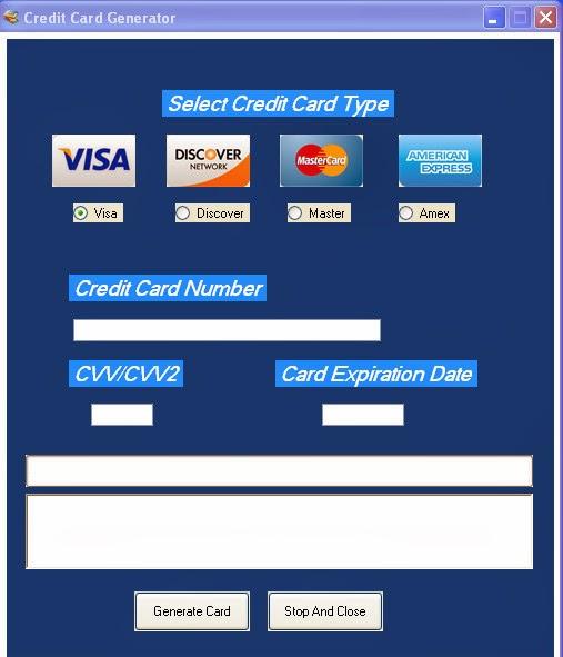 creditcard info generator