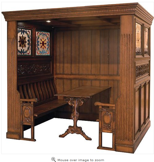 Watchdoglamar Restaurant Booth Seats Seating Bench Wood Antique Sty Man Cave Furniture Tiffany