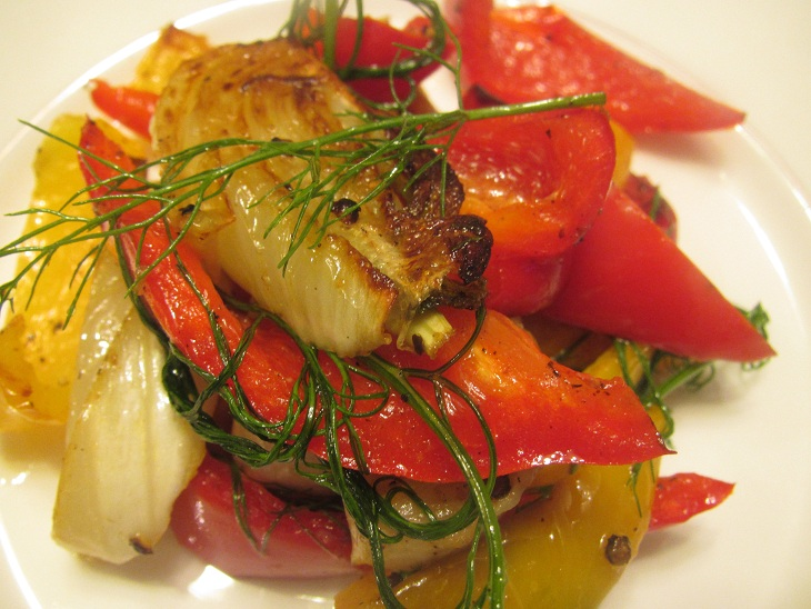 Baked Fennel and Bell Pepper