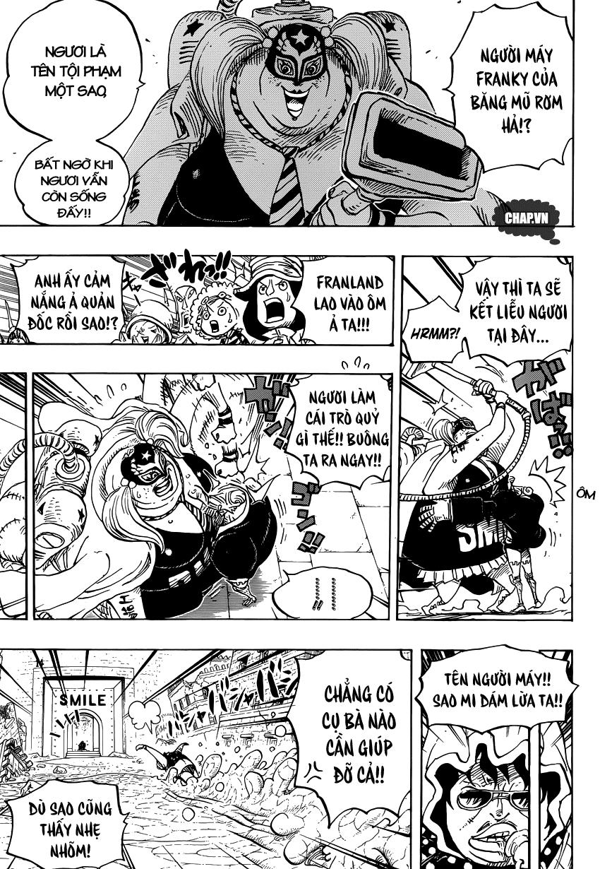 One Piece Chapter 755: Trận chiến của đàn ông 009