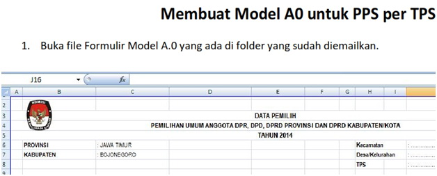 Tutorial Membuat Model A.0.KPU
