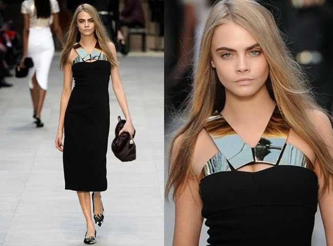 (Burberry autumn/winter 2013, Cara Delevingne)
