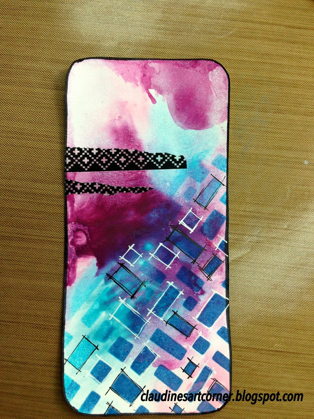 Claudine 39 s art corner diy cell phone case cover for Washi tape phone case