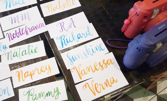Water Color lettering by April San Pedro
