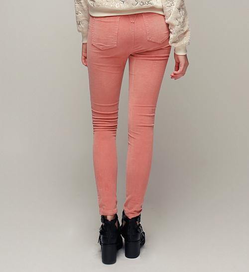 Pastel Corduroy Slim Pants