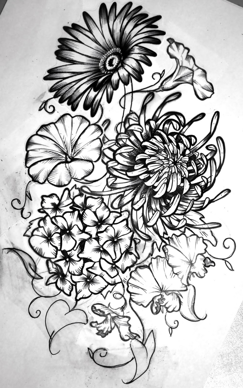 January Birth Flower Tattoo Flower tattoo design
