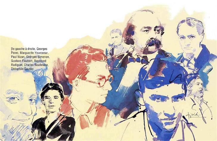 G.Perec, M. Yourcenar, P. Nizan, G. Simenon, G. Flaubert, R. Radiguet, Ch. Baudelaire, Th. Gautier