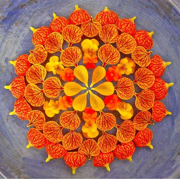 Creative Flower Rangoli Designs