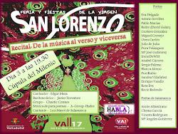 Recital en la Ferias de la Virgen de San Lorenzo