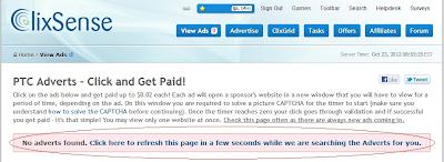 refresh link for more clixsense ads