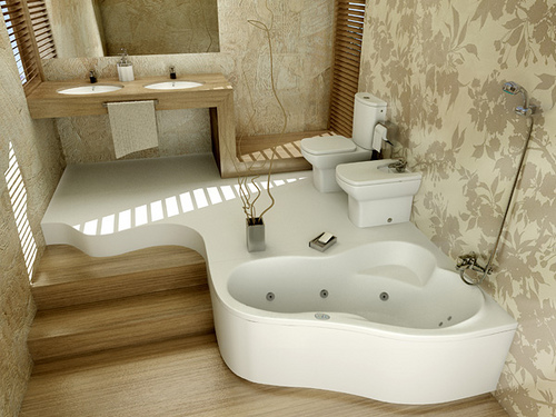Bathroom With Modern Natural Wood, Bathroom, Bathroom Modern, Bathroom