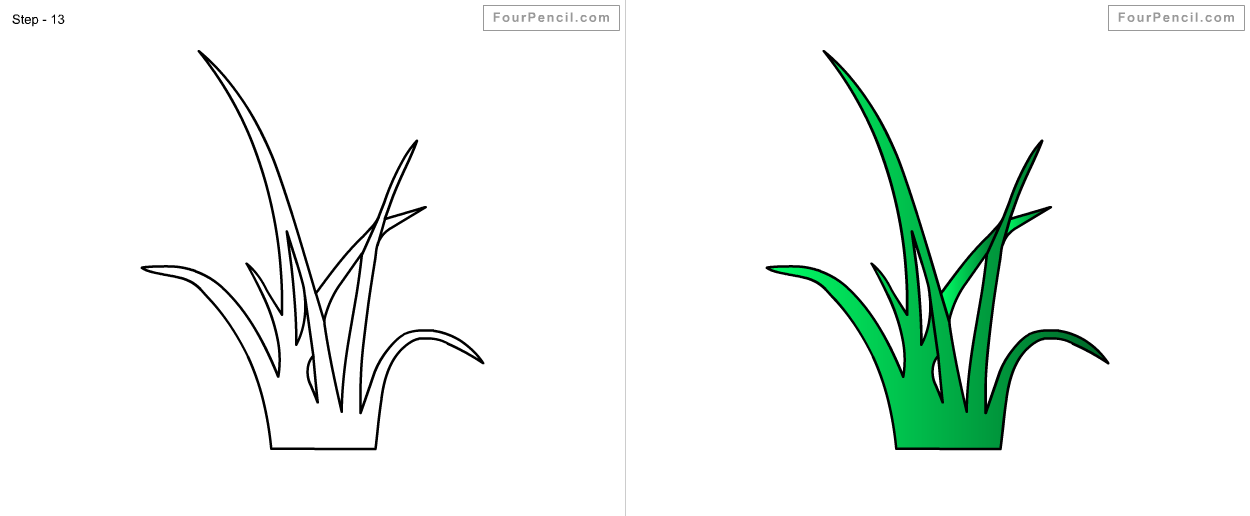 Line Drawing Grass : New how to sketch grass