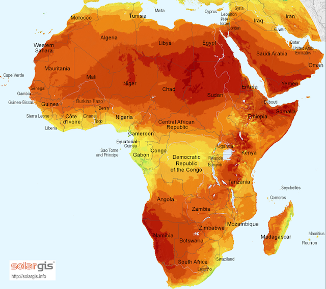 Solar Potential in Africa