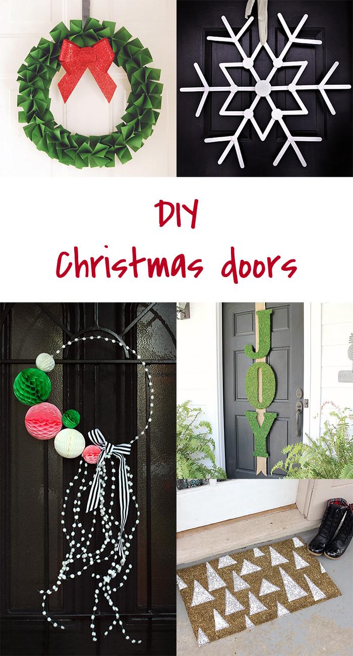 5 DIY to try # Christmas door decor