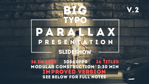 VideoHive Big Typo Parallax Presentation