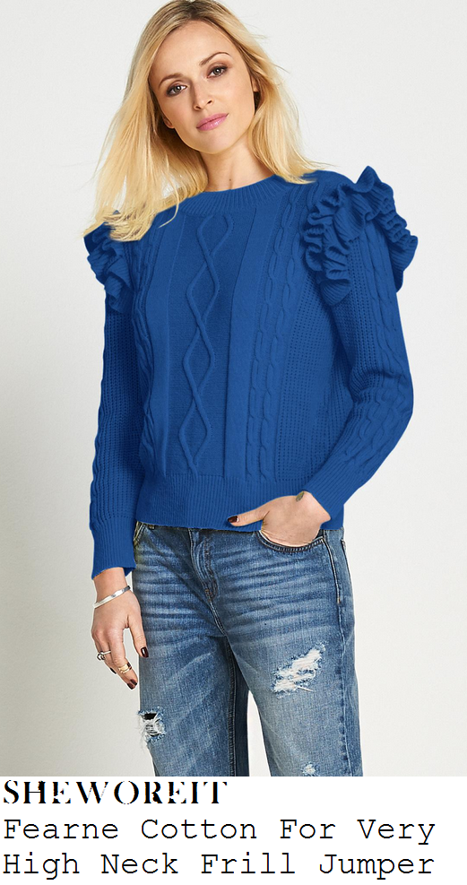 fearne-cotton-blue-frill-detail-cable-knit-jumper-radio-1