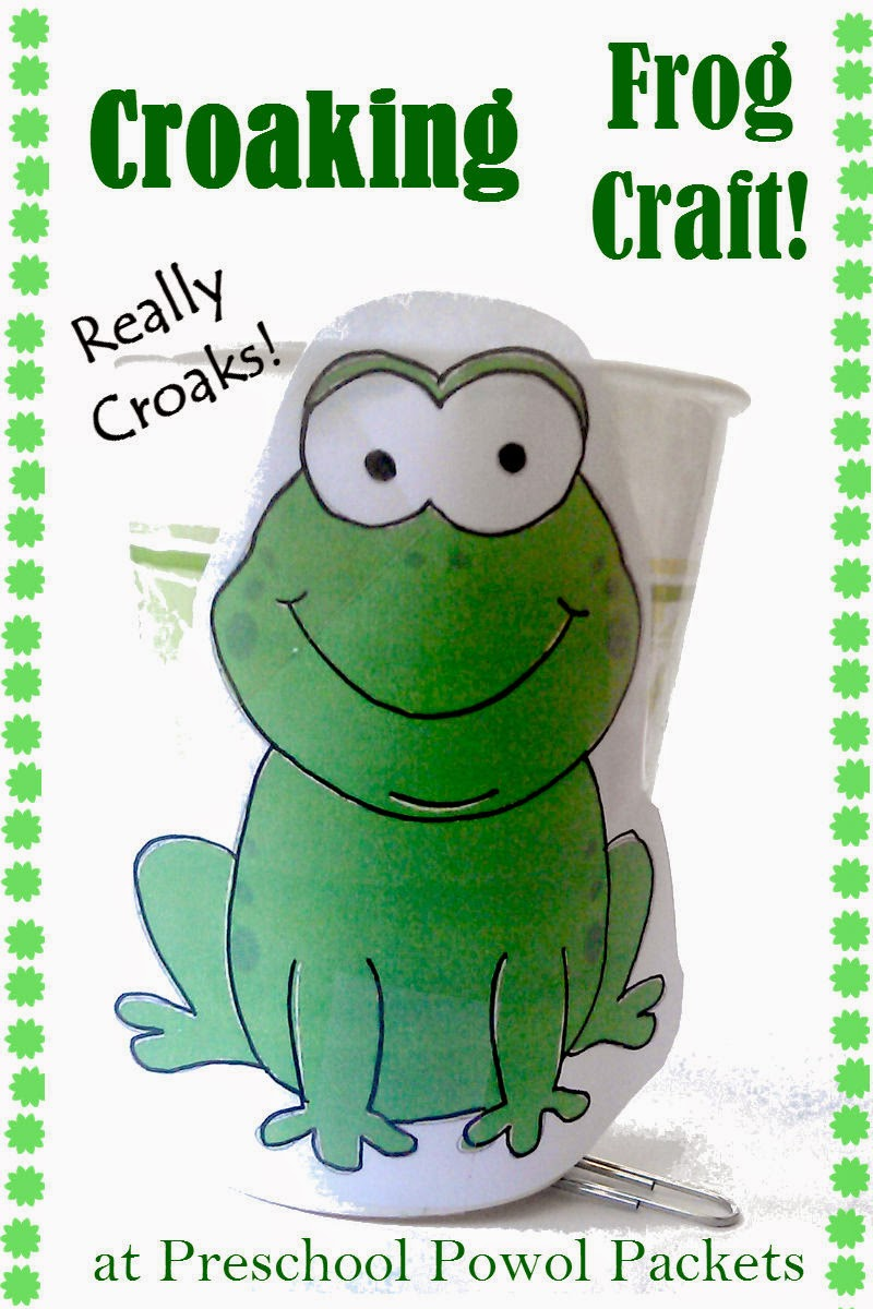 Croaking frog craft and halloween read play preschool for Frog crafts for preschoolers