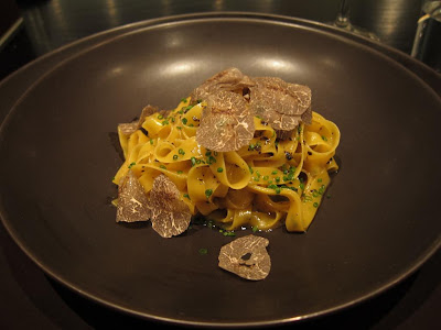 Egg yolk tagliatelle at Benu San Francisco