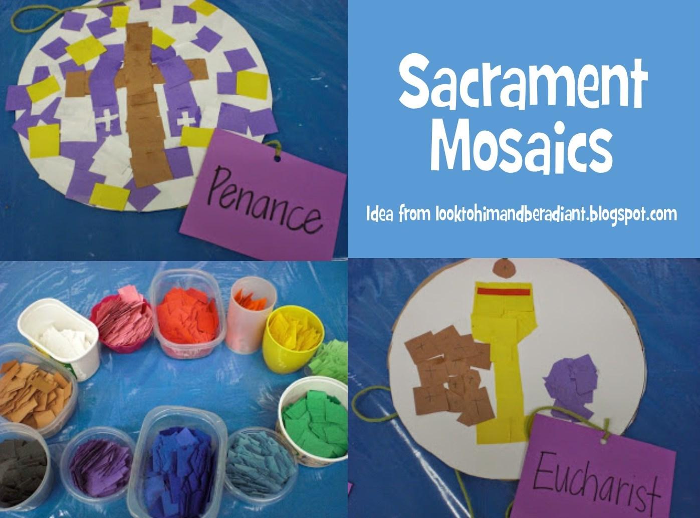 Look to him and be radiant sacrament mosaics friday july 10 2015 biocorpaavc