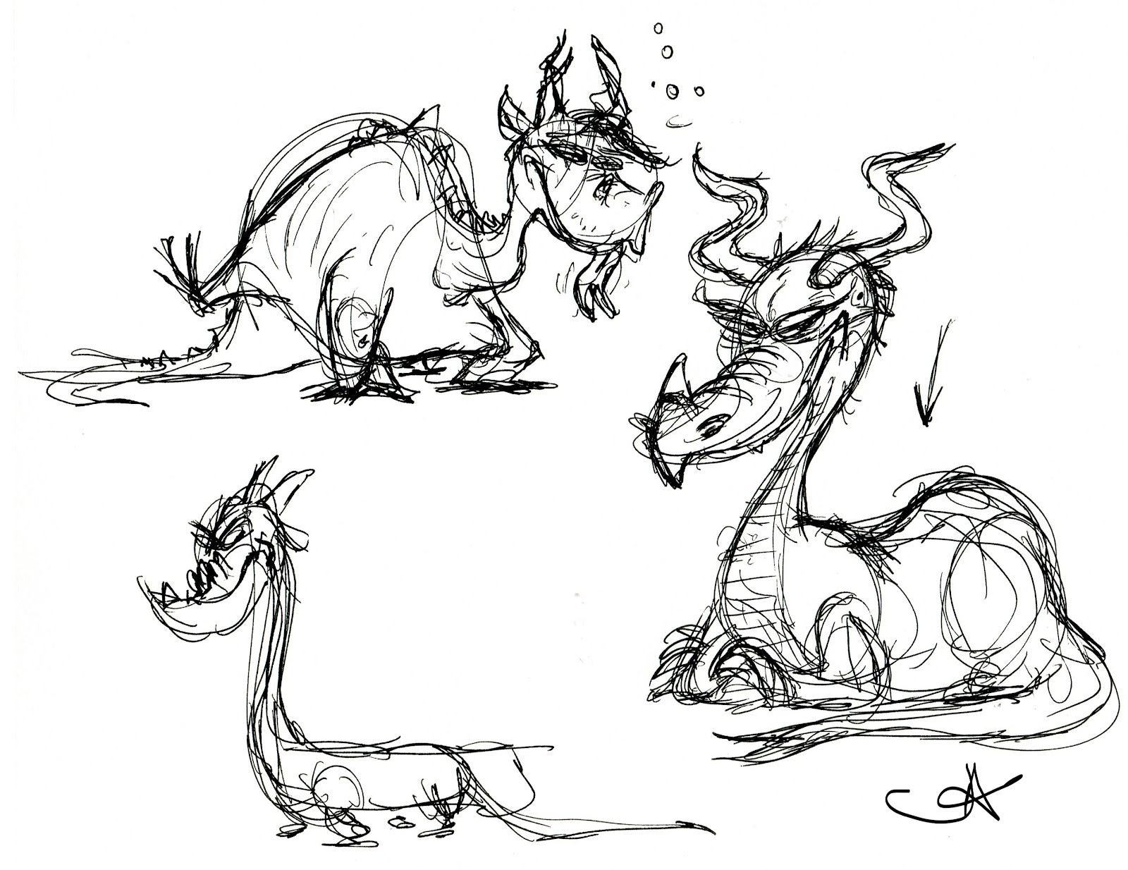 Medieval Dragon Drawings Nate Wragg Character Design