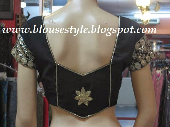 back neck blouse model